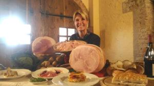 Ellen Hidding presenta il prosciutto cotto Pertus